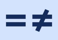 Náhled rovnítka a nerovnítka