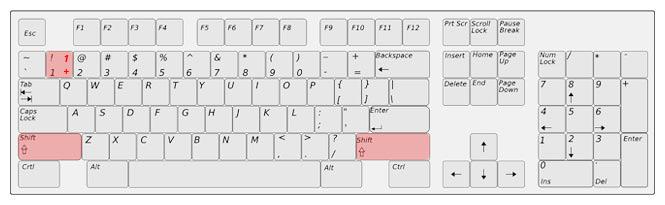 Zápis vykřičníku na anglické klávesnici