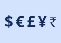 Náhled znaků světových měn