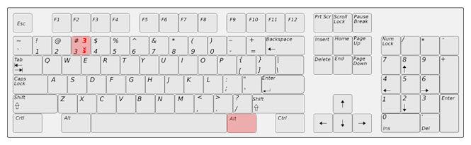 Vokáň na klávesnici